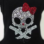 View Image 2 of Molly Skull Dog Dress with Red Bow