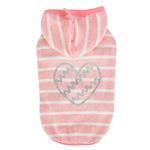 View Image 1 of Mamours Dog Hoodie by Pinkaholic - Indian Pink