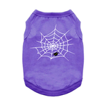 View Image 1 of Cute Spider Halloween Dog Shirt - Purple