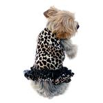 View Image 1 of Movie Star Tutu Velvet Dog Dress - Leopard
