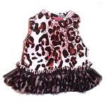 View Image 2 of Movie Star Tutu Velvet Dog Dress - Pink Leopard