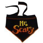 View Image 1 of Mr. Scary Dog Bandana Scarf - Black