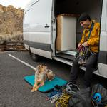 View Image 3 of Mt. Bachelor Pad Dog Bed by RuffWear - Tumalo Teal