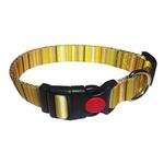 View Image 1 of Multi-Stripes Dog Collar - Yellow