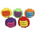 View Image 1 of MultiPet Nuts for Knots Rubber Ball Dog Toy