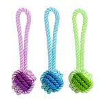 View Image 1 of MultiPet Nuts for Knots Tup Rope Rubber Dog Toy