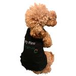 View Image 3 of My First Christmas Rhinestone Dog Dress - Black
