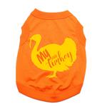 View Image 1 of My Little Turkey Dog Shirt - Orange