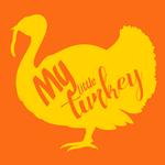 View Image 2 of My Little Turkey Dog Shirt - Orange