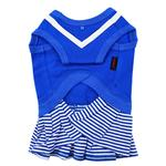 View Image 2 of Naunet Marine Dog Dress by Puppia - Blue