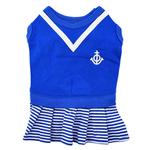 View Image 1 of Naunet Marine Dog Dress by Puppia - Blue