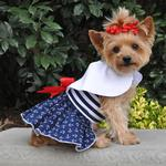 View Image 1 of Nautical Dog Dress with Matching Leash by Doggie Design