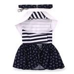 View Image 3 of Nautical Dog Dress with Matching Leash by Doggie Design