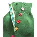 View Image 3 of Rainbow Button Dog Sweater by Beverly Hills Dog - Green