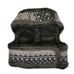 View Image 3 of Neige Pinka Dog Harness by Pinkaholic - Charcoal Gray