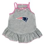 View Image 1 of New England Patriots Dog Dress - Gray