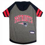 View Image 1 of New England Patriots Hooded Dog T-Shirt