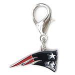 View Image 1 of New England Patriots Logo Dog Collar Charm