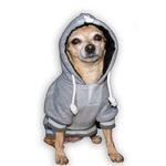 View Image 2 of New England Patriots NFL Dog Hoodie - Gray