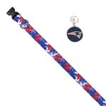 View Image 1 of New England Patriots Team Camo Dog Collar and Tag by Yellow Dog