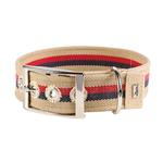 View Image 1 of New Orleans Cotton Stripe Dog Collar by HUNTER - Beige