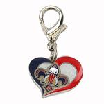 View Image 1 of New Orleans Pelicans Swirl Heart Dog Collar Charm