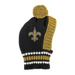 View Image 1 of New Orleans Saints Knit Dog Hat