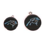 View Image 2 of Carolina Panthers Team Camo Dog Collar and Tag by Yellow Dog
