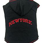 View Image 1 of New York Dog Hoodie - Black