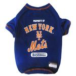 View Image 1 of New York Mets Dog T-Shirt - Blue