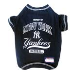 View Image 1 of New York Yankees Dog T-Shirt - Navy Blue