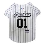 View Image 1 of New York Yankees Officially Licensed Dog Jersey - Pinstripe