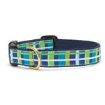 View Image 1 of Newport Plaid Dog Collar by Up Country