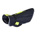 View Image 1 of Nimbus Puffer Dog Coat - Graphite and Lime