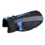 View Image 1 of Vortex Parka Dog Coat - Black and Cyan