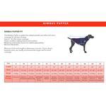 View Image 4 of Nimbus Puffer Dog Coat - Royal Blue and Cyan