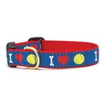 View Image 1 of I Heart Tennis Balls Dog Collar by Up Country
