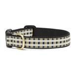 View Image 1 of Black Gilt Check Dog Collar by Up Country