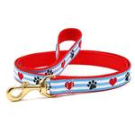 View Image 1 of Pawprint Stripe Dog Leash by Up Country