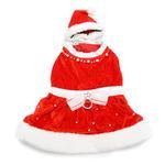 View Image 1 of Noella Santa Dog Dress - Red