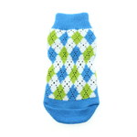 View Image 3 of Non-Skid Dog Socks by Doggie Design - Blue and Green Argyle