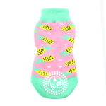 View Image 2 of Non-Skid Dog Socks by Doggie Design - Pink Pineapple