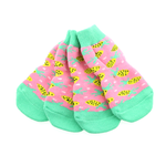 View Image 1 of Non-Skid Dog Socks by Doggie Design - Pink Pineapple