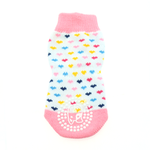 View Image 2 of Non-Skid Dog Socks by Doggie Design - Pink and White Hearts
