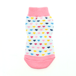 View Image 3 of Non-Skid Dog Socks by Doggie Design - Pink and White Hearts