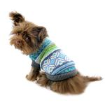 View Image 5 of Northern Lights Dog Sweater - Blue