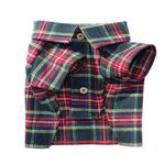 View Image 1 of Northern Pine Flannel Dog Shirt By Dog Threads
