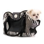 View Image 2 of NY Dog Zebra Print Open Pet Tote - Black