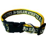 View Image 1 of Oakland Athletics Officially Licensed Ribbon Dog Collar