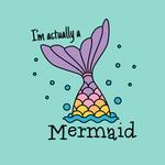 View Image 2 of I'm Actually a Mermaid Dog Shirt - Teal